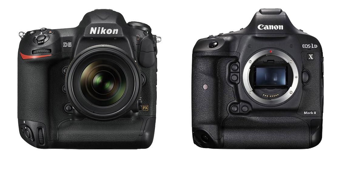 ¿Cual es mejor, Canon Vs Nikon? Parte 2, Canon Vs Nikon, Nikon, Canon, Fotografia, Canon EOs 1Dx Mark II, Nikon D5