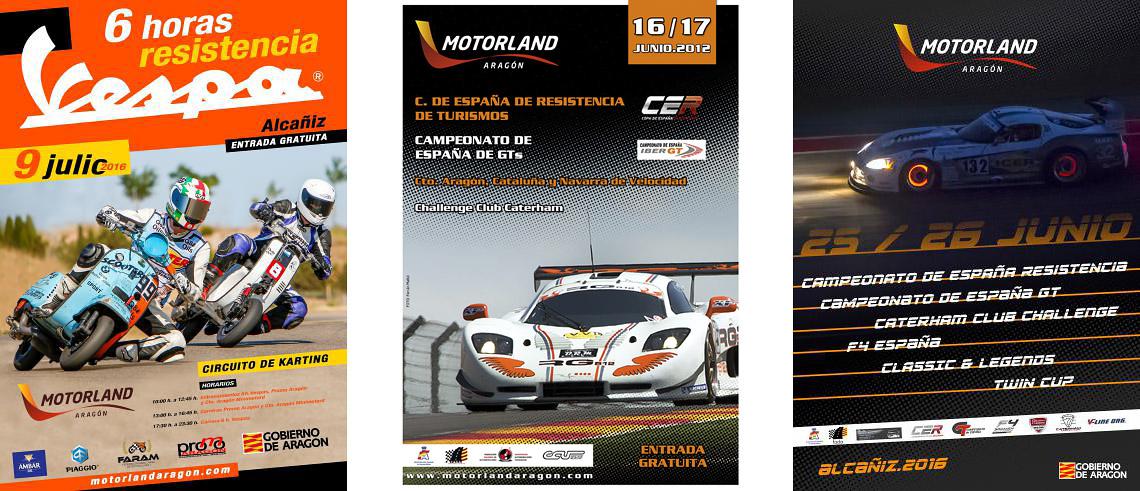 Nuestras fotografías en los carteles, Cartel Motorland, Ferran Mallol, classphoto, 6 horas resistencia vespa, vespa